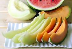 Melon de cantaloup Photographie stock libre de droits