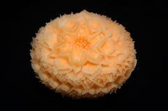 Melon de cantaloup découpant l'affichage Photographie stock