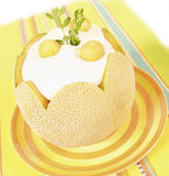 Melon desert Stock Photography