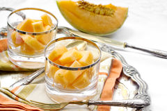 Melon dessert Stock Photo