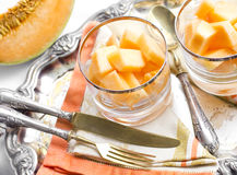 Melon dessert Stock Photos