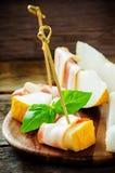 Melon et jambon Images libres de droits