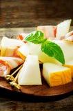 Melon et jambon Photographie stock libre de droits