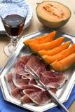 Melon et prosciutto Image libre de droits