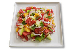 Melon, Feta and Red Onion Salad Royalty Free Stock Photography