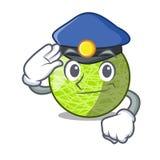 Melon frais de police d'isolement sur la bande dessinée de caractère illustration stock
