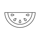 Melon fresh fruit icon vector illustration