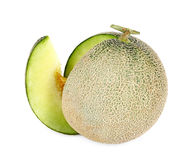 Melon fresh fruit isolated on a white background Royalty Free Stock Photos