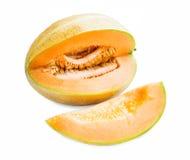 Melon Fruit Isolated on White Stock Photo
