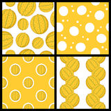 Melon Fruit Seamless Patterns Set Stock Photography