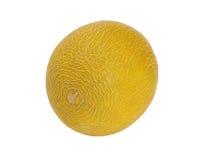 Melon Galia, d'isolement sur le blanc Photo stock