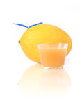 Melon and glass of juice Royalty Free Stock Images