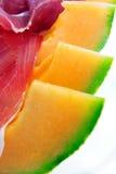 Melon and ham Royalty Free Stock Photos