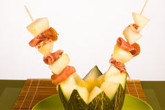 Melon with ham Stock Photos