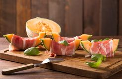 Melon with ham Stock Images