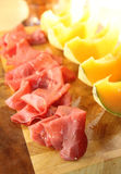 Melon and ham Stock Photos