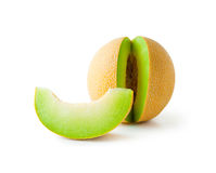 Melon honeydew and melon slice Stock Photo