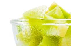 Melon honeydew portion Stock Photo