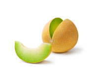 Melon honeydew and a slice Royalty Free Stock Images