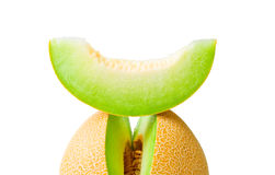 Melon honeydew and a slice Royalty Free Stock Photos