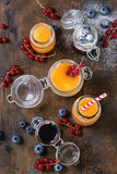 Melon i czarnej jagody smoothie zdjęcia royalty free