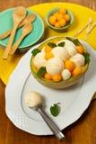 Melon Ice Cream Stock Photos