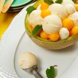 Melon Ice Cream Stock Image