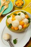 Melon Ice Cream Stock Images