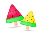 Melon Ice cream for kids. Create by vector Royalty Free Stock Images