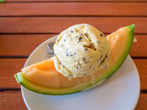 Melon Icecream Royalty Free Stock Images
