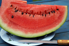 Melon included in menu Stock Image