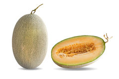 Melon isolated on white background.  Stock Photo