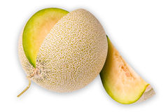 Melon isolated on white background. A melon isolated on white background Stock Photo