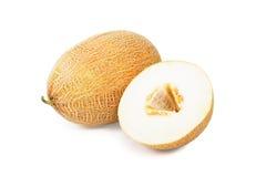 Melon isolated on white background. Freshly cut melon isolated on white background Stock Photos