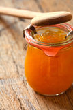 Melon jam in a preserving jar Stock Photo