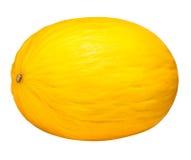 Melon jaune d'isolement sur le fond blanc avec le chemin de coupure Images libres de droits