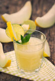 Melon juice in the glass Royalty Free Stock Photography