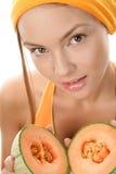melon kobieta obrazy royalty free