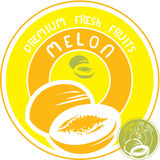 Melon label Royalty Free Stock Photos