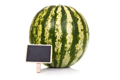 Melon with little blackboard Royalty Free Stock Image