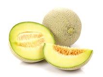 Melon, melonów plasterki na białym tle Obrazy Royalty Free