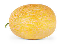 Melon, melonów plasterki odizolowywający na białym tle Obraz Stock