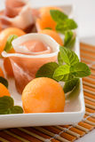 Melon and mint, appetizer, selective focus Royalty Free Stock Images