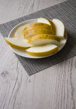 Melon on neutral background Stock Photography