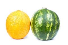 Melon och vattenmelon Arkivfoto
