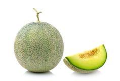 Melon odizolowywający na białym tle Zdjęcia Stock