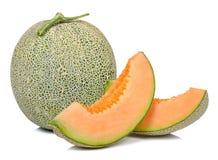 Melon odizolowywający na białym tle Obrazy Stock