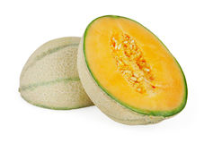 Melon On White Royalty Free Stock Photo