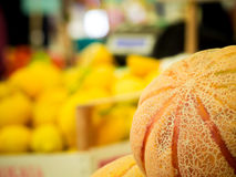 A melon at the open market Royalty Free Stock Photography