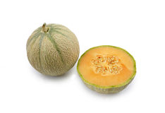 A melon opened with another one Royalty Free Stock Photography